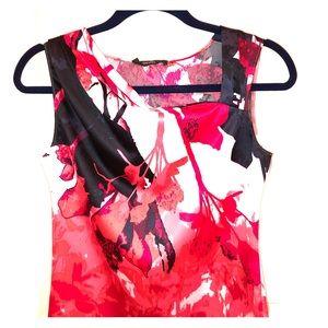 TAHARI Flower Print Blouse